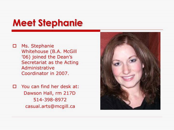 Meet Stephanie