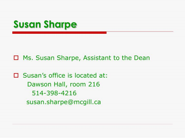 Susan Sharpe