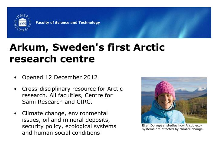 Arkum, Sweden's first Arctic research centre