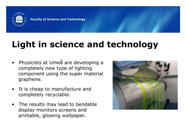 Light in science and technology