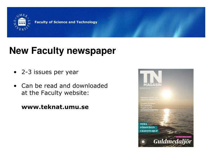 New Faculty newspaper