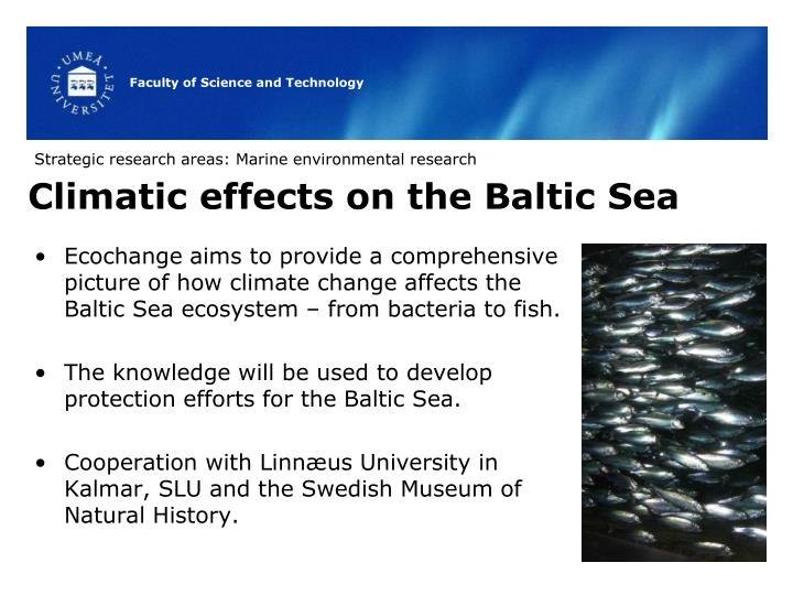 Strategic research areas: Marine environmental research