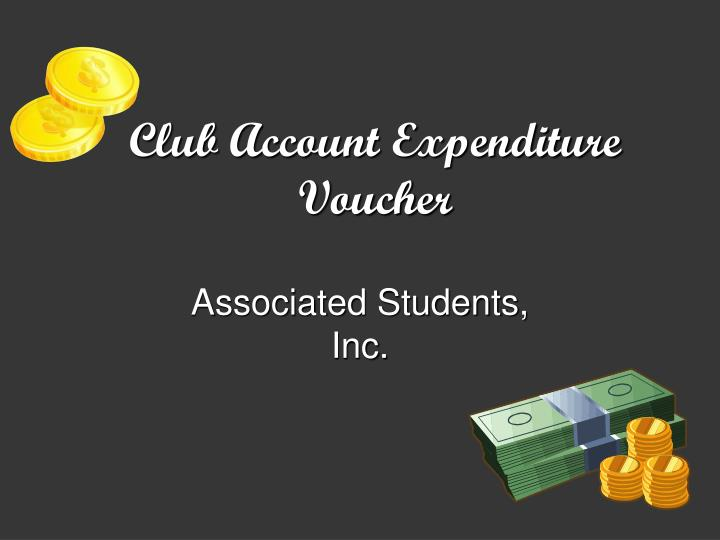 Club Account Expenditure Voucher