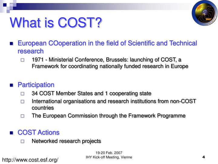 What is COST?