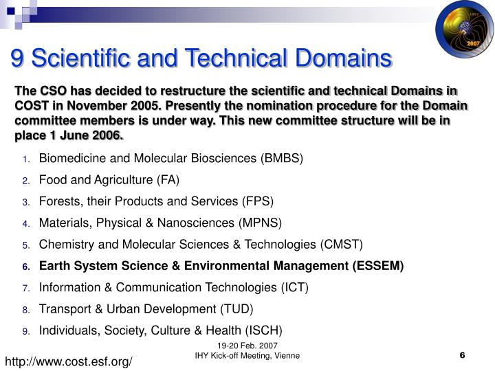 9 Scientific and Technical Domains