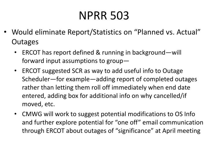 NPRR 503