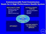 commonwealth fund commission goals for a high performance health system