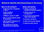 national quality benchmarking in germany