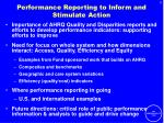 performance reporting to inform and stimulate action