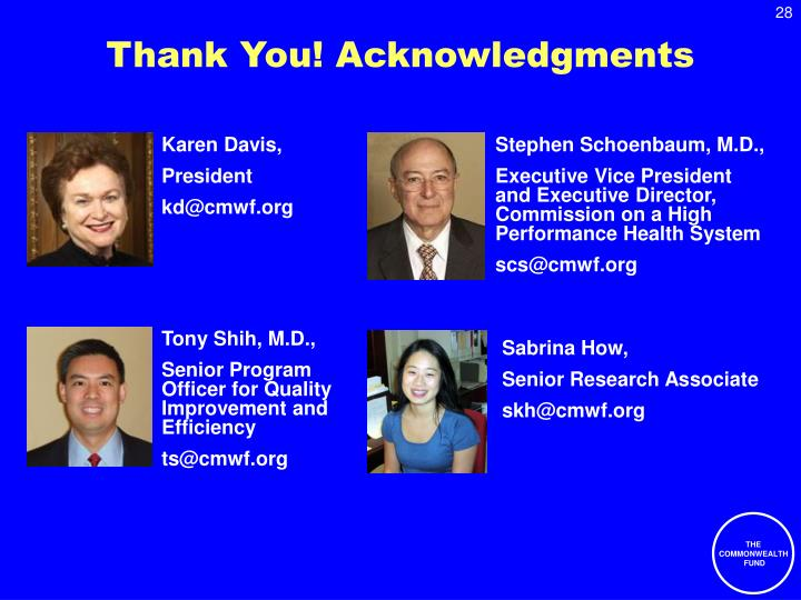 Thank You! Acknowledgments