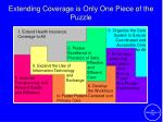 extending coverage is only one piece of the puzzle