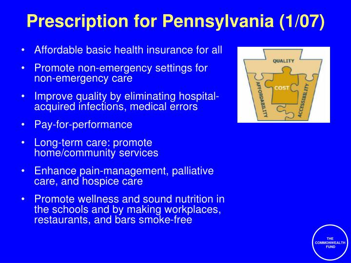 Prescription for Pennsylvania (1/07)