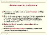 awareness as an environment