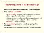 the starting points of the discussion 2
