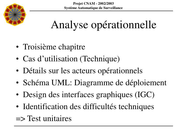 Analyse opérationnelle