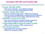 concepts site url and transfer url