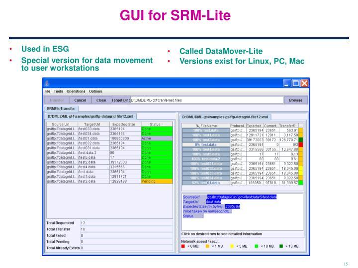 GUI for SRM-Lite