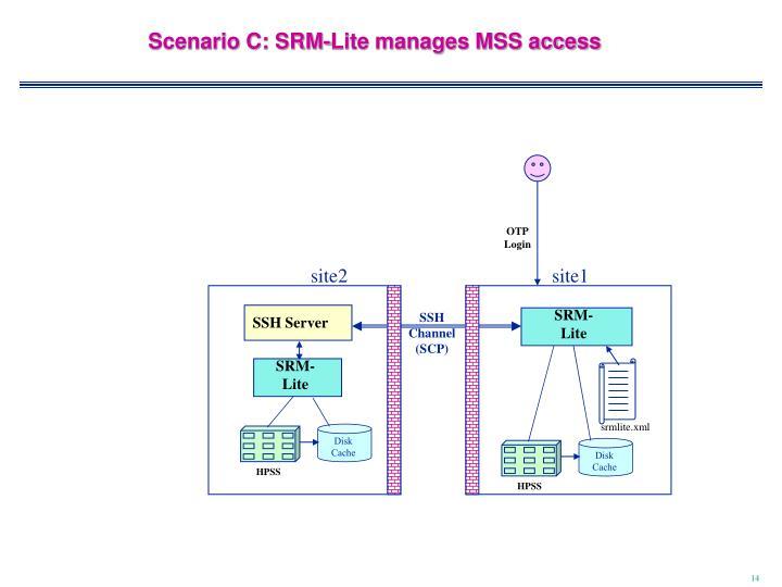 Scenario C: SRM-Lite manages MSS access
