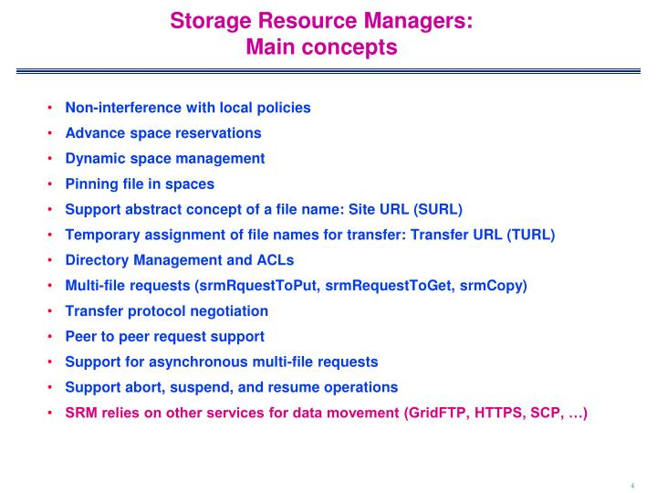 Storage Resource Managers: