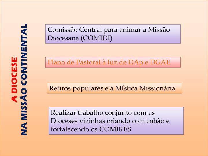 Comissão Central para animar a Missão Diocesana (COMIDI)