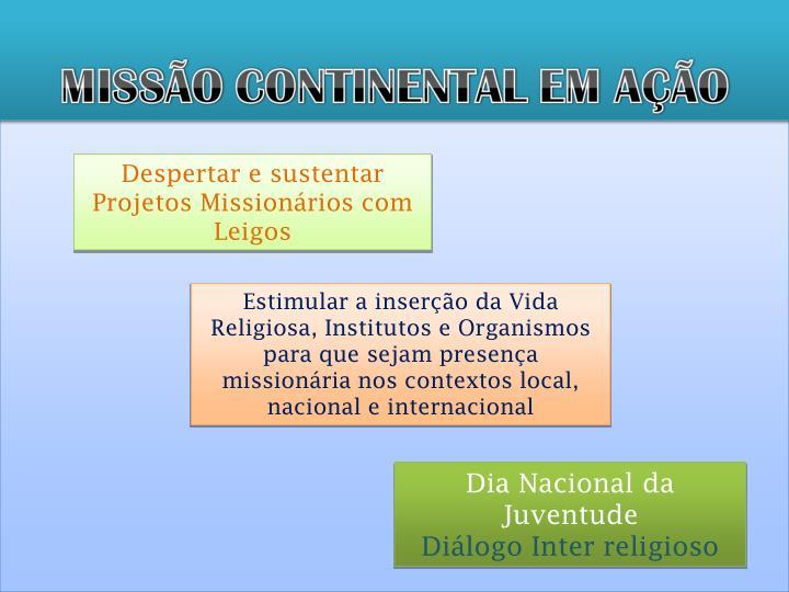 Despertar e sustentar Projetos Missionários com Leigos