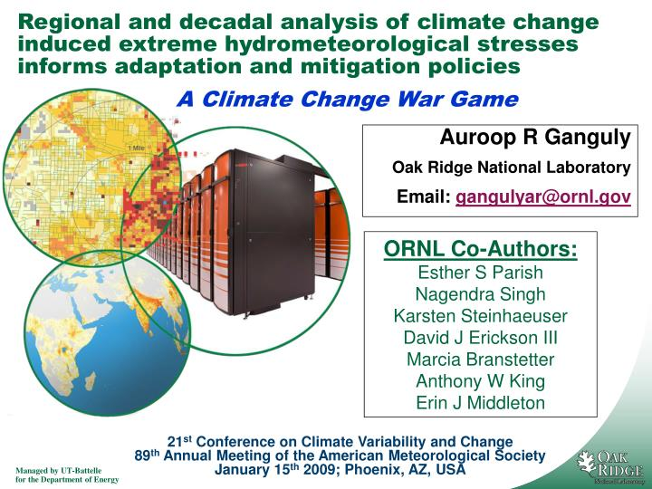Regional and decadal analysis of climate change induced extreme hydrometeorological stresses informs...