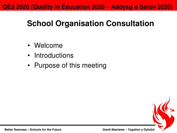 School Organisation Consultation