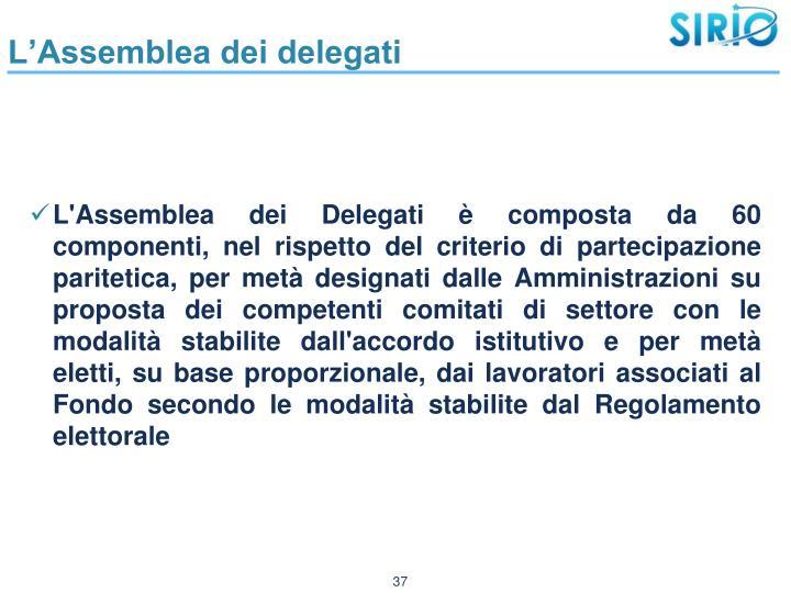 L'Assemblea dei delegati