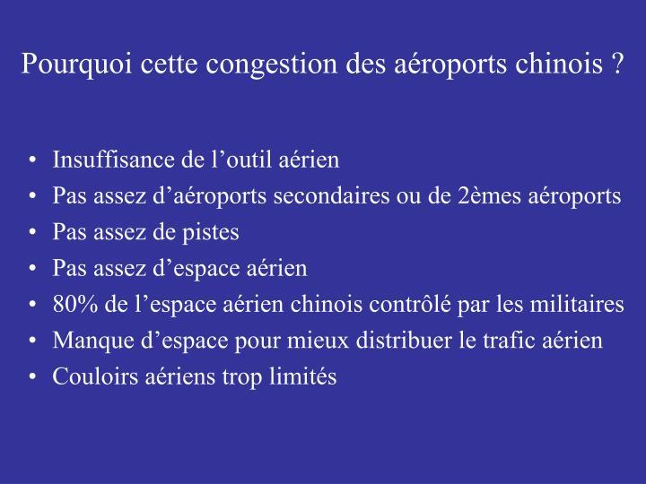 Pourquoi cette congestion des aéroports chinois ?