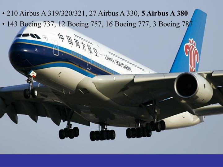 210 Airbus A 319/320/321, 27 Airbus A 330,