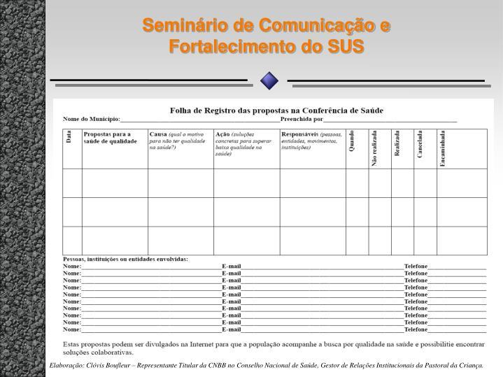 Seminário de Comunicação e