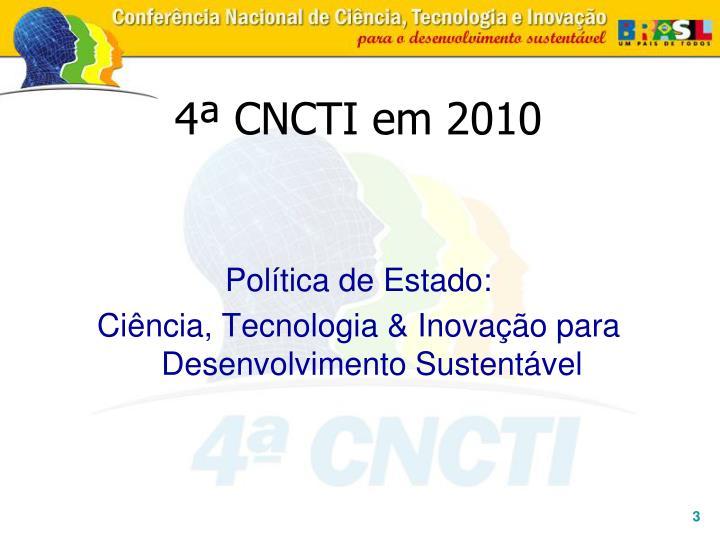 4ª CNCTI em 2010