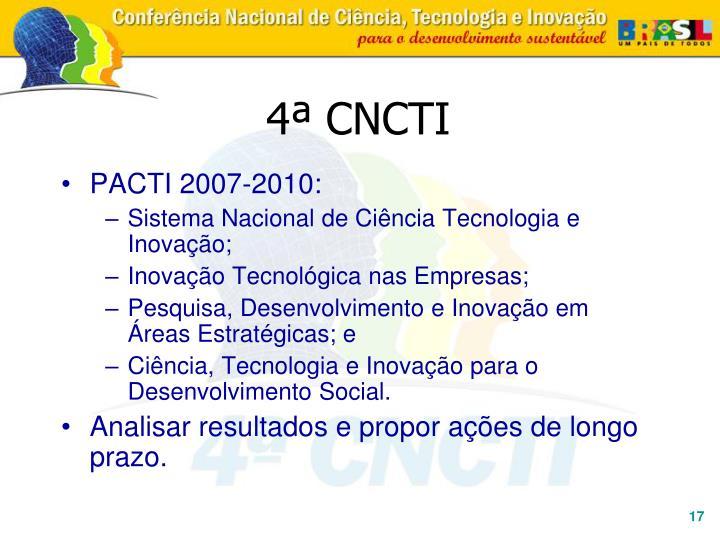 4ª CNCTI