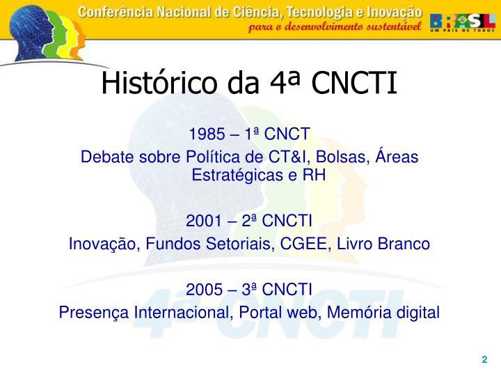 Histórico da 4ª CNCTI