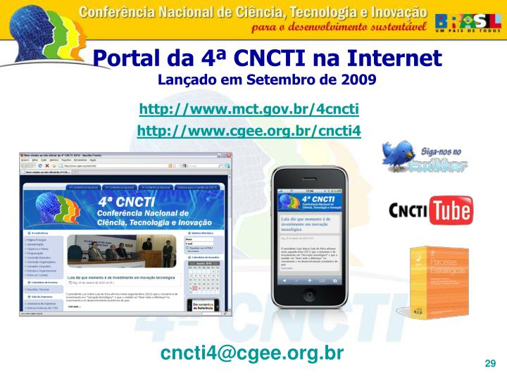 http://www.mct.gov.br/4cncti