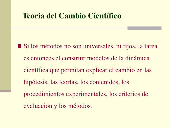 Teoría del Cambio Científico