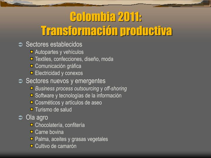 Colombia 2011: