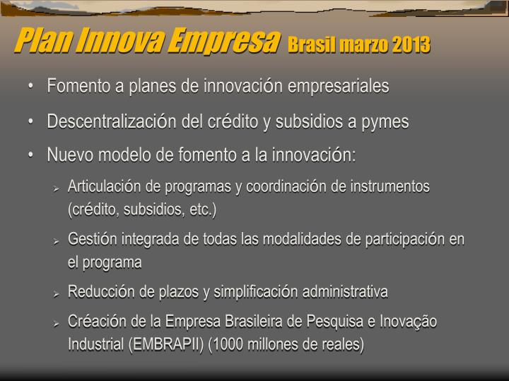 Plan Innova Empresa