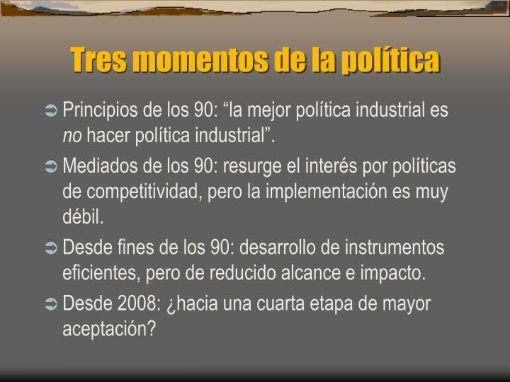 Tres momentos de la política