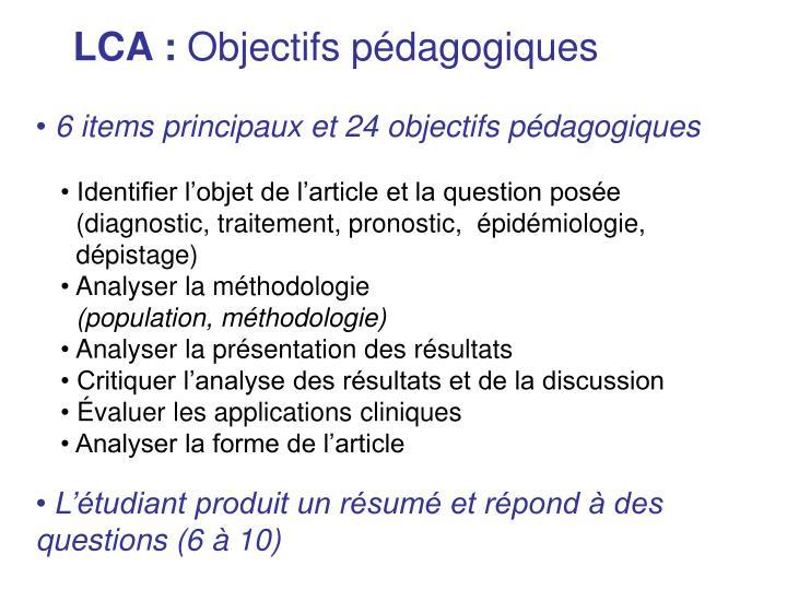 LCA :