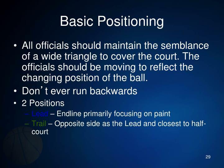 Basic Positioning