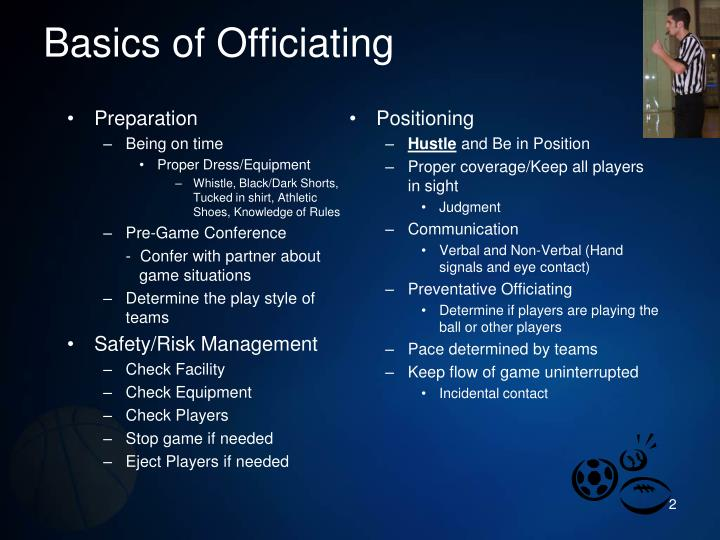 Basics of officiating