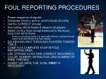 foul reporting procedures1