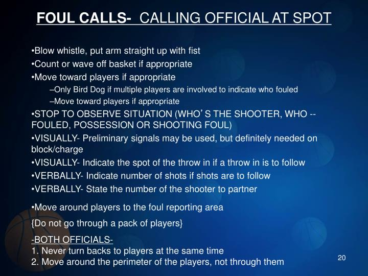 FOUL CALLS-