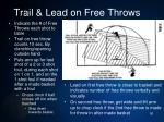 trail lead on free throws