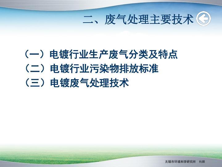 二、废气处理主要技术