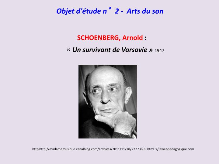 Objet d'étude n°2 -  Arts du son