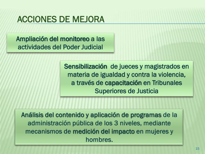 ACCIONES DE MEJORA