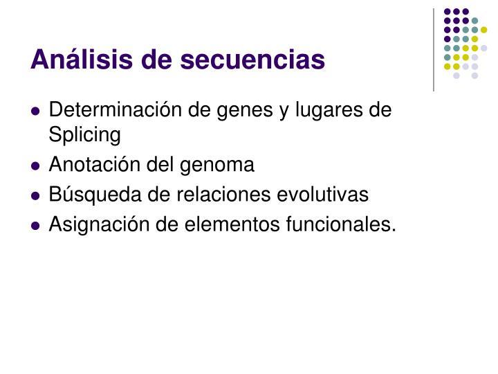 Análisis de secuencias