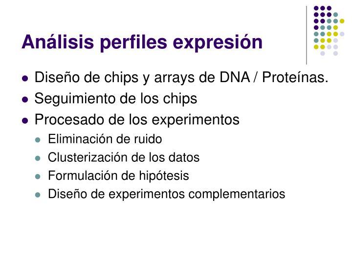 Análisis perfiles expresión